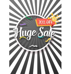 Sale poster paper lettering bright sale flyer vector