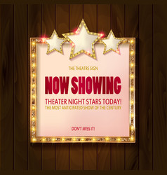 Showtime retro signs vector