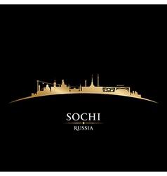 Sochi russia city skyline silhouette vector