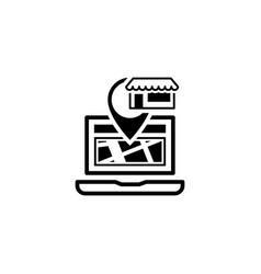 Store location icon flat design vector
