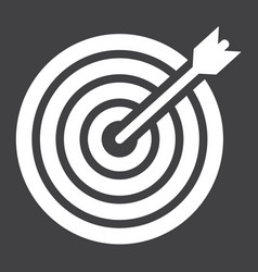 Target solid icon business and dartboard vector