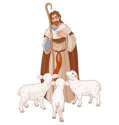 The Good Shepherd vector image