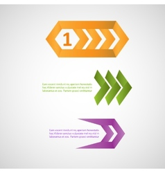 Three colorful pointers eps vector image vector image
