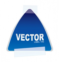 triangle paper tag tape vector image