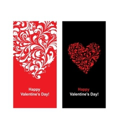 Valentine card with heart shape for your design vector image vector image