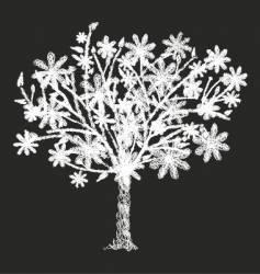 wire tree vector image vector image