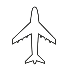 Airplane silhouette isolated icon vector