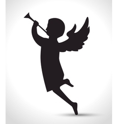 Silhouette angel manger isolated design vector