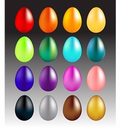 Gradient mesh easter eggs vector
