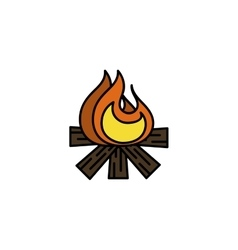 Hunting icon bonfire vector