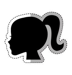 female profile silhouette icon vector image
