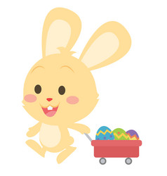 Easter theme with bunny and egg vector