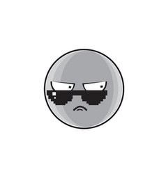 Angry cartoon face expression people emoticon vector
