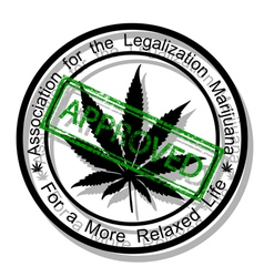 Approve marijuana vector