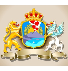 Coat of arm of naples vector