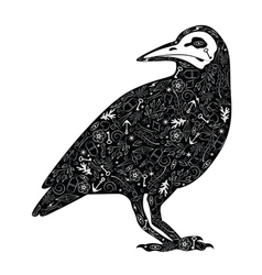 Crow tattoo vector