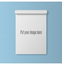 Realistic blank template of open notepad vector
