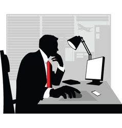 businessman silhouette vector image