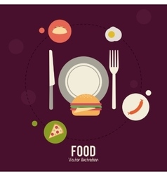 Food and menu design vector