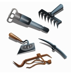 Tools for home construction and landscaping vector