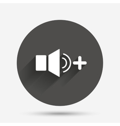 Speaker volume louder sign icon sound symbol vector