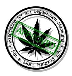 Approve marijuana vector