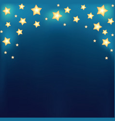 Background with shiny cartoon stars vector image vector image