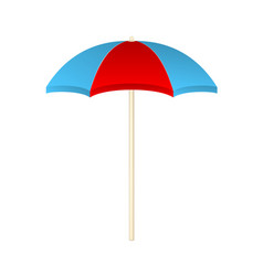 Beach umbrella in red and blue design vector