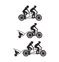 Bicycle silhouette b vector
