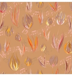 Bright seamless pattern with oil painted orange vector