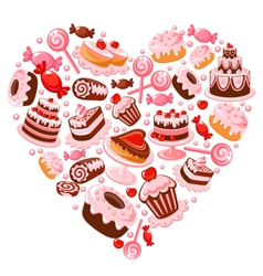Candy heart vector