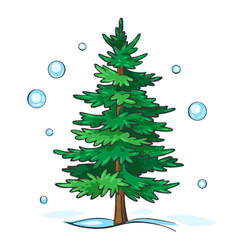 christmas tree is green vector image vector image