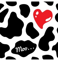Cow background seamless vector image vector image