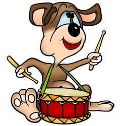 dog drummer vector image