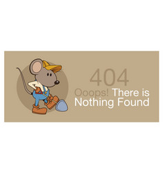 error 404 with funny mouses banner vector image