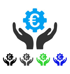 Euro maintenance hands flat icon vector