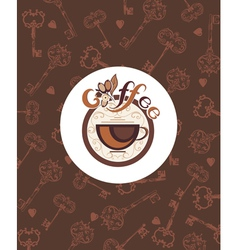Hot drink Coffee vector image