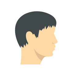 human head side view icon flat style vector image