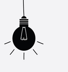 Idea light buble black and white vector