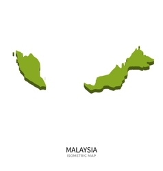 Isometric map of Malaysia detailed vector image vector image