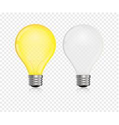 lightbulb realistic vector image vector image