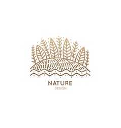 logo of trees and fields vector image vector image