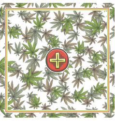 Marijuana medical banner four vector