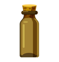 Pharmacy bottle icon cartoon style vector