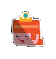 Princess pixelated videogame vector