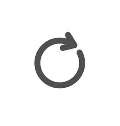 Refresh simple icon rotation arrow sign vector