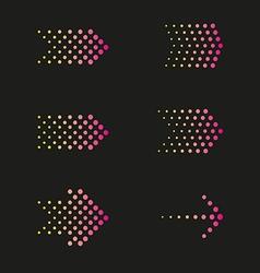 Set of arrows dots vector image vector image