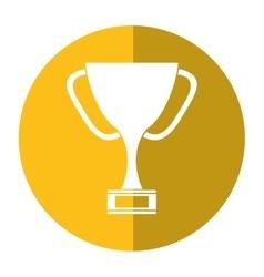 Trophy award sport win sport shadow vector
