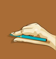 Women hand holding pen design vector