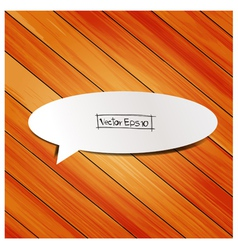 wooden background with speech bubbles paper stick vector image vector image
